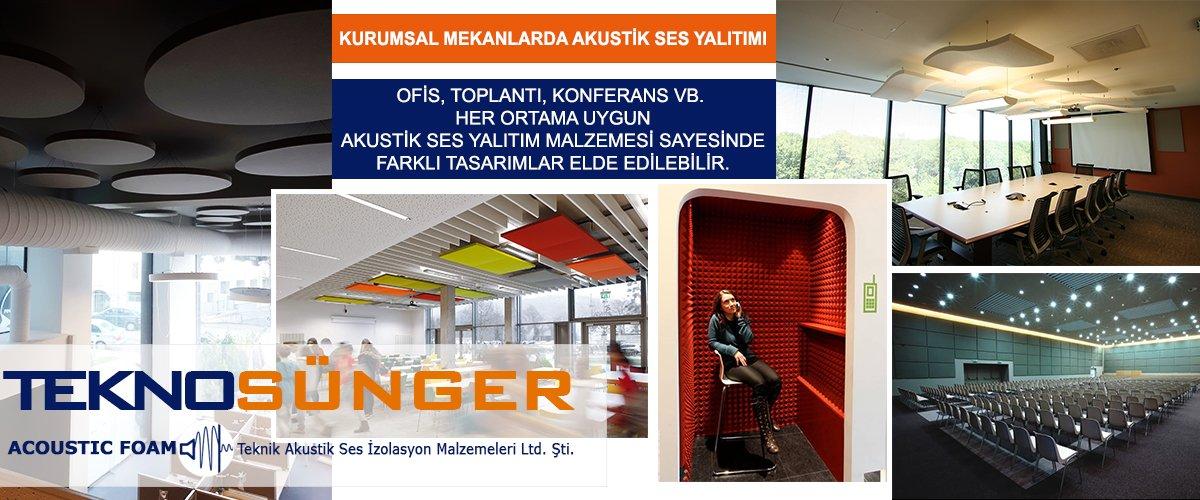 Akustik Ses Yalıtım Malzemeleri Fiyatları İstanbul Tekno Sünger