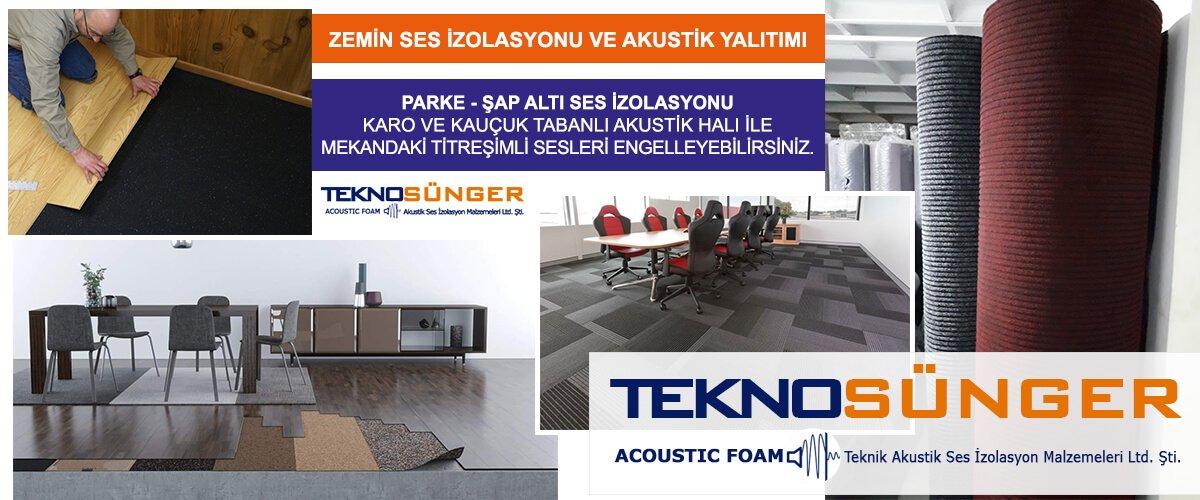 İstanbul Zemin Ses Yalıtımı İzolasyonu Malzemeleri Fiyatları Tekno Sünger