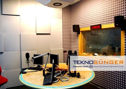 Radyo Odası Ses Yalıtımı Piramit Sünger