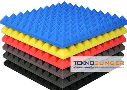 Renkli Akustik Piramit Sünger Fiyatları
